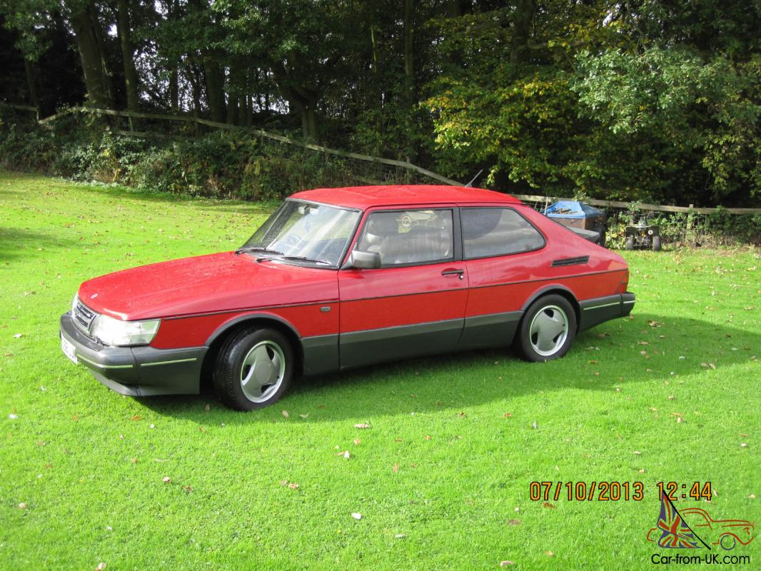 Saab 900 Turbo S 16v 1993 Red 3 Door Excellent Condition