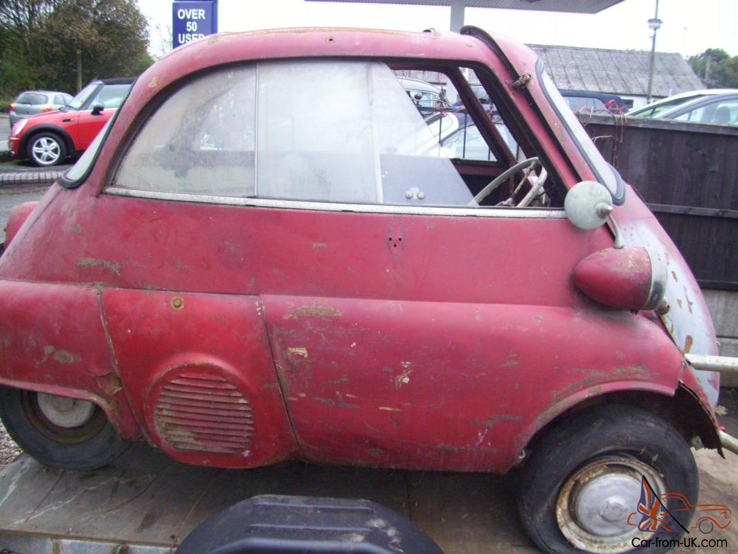 Bmw Isetta 4 Wheel Bubble Car And Trailer