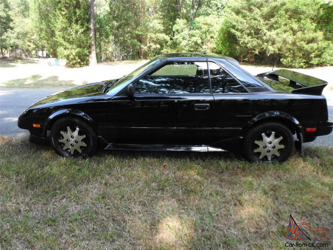 Toyota Mr2 1987 >> 1987 Toyota Mr2 Gt Black Super Rare Meticulously Maintained 86 000 Miles