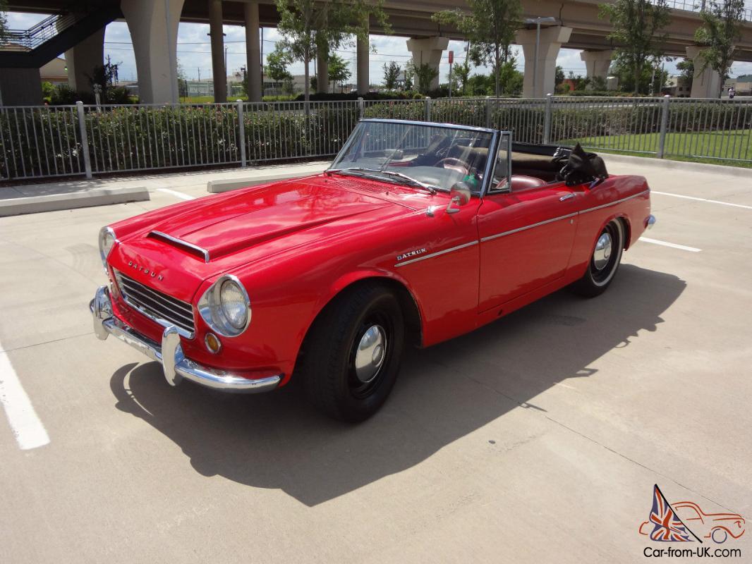 1967 Datsun Roadster 1600 Convertible Short Window Early 67 No Reserve Texas Car