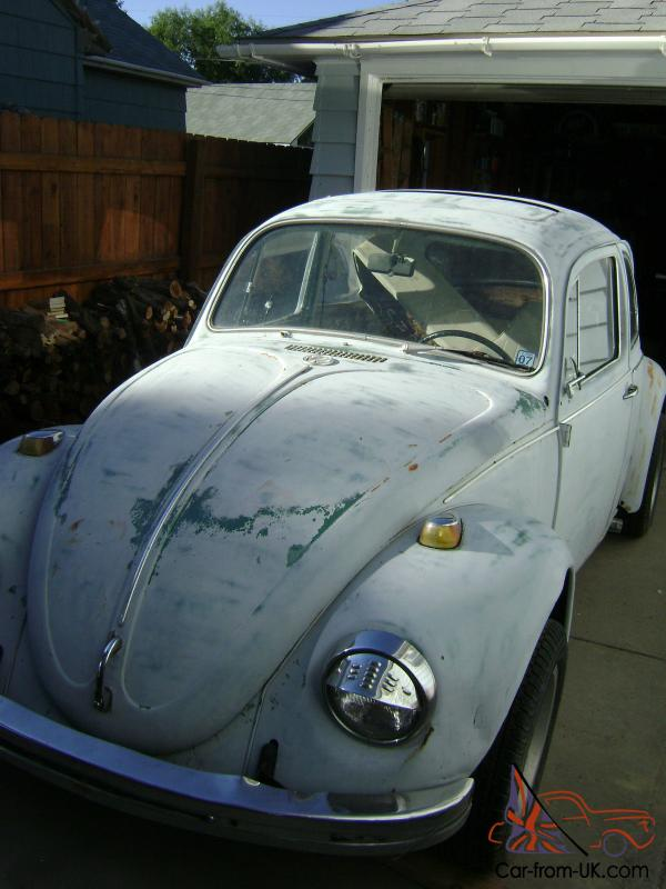 1969 Volkswagen Beetle With Sun Roof Good Fixer Upper Rat Rod Or Parts Car