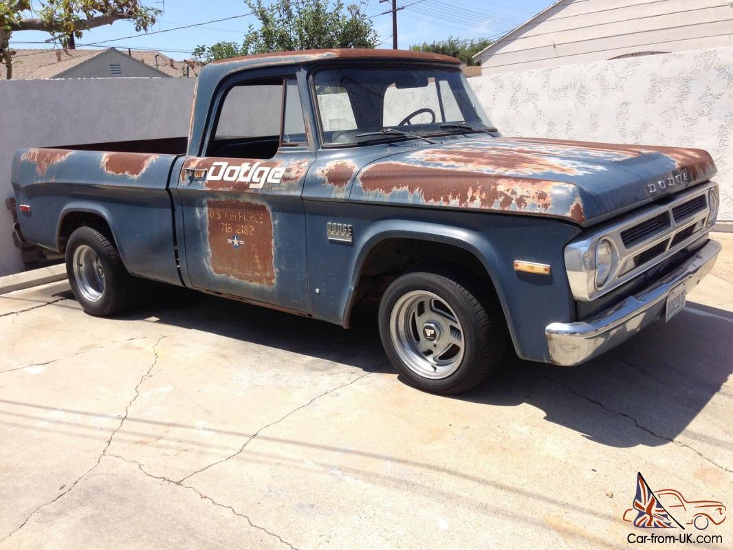 1971 Dodge Short Bed U S Airforce Vihicle Cool Patina Pick Up Truck