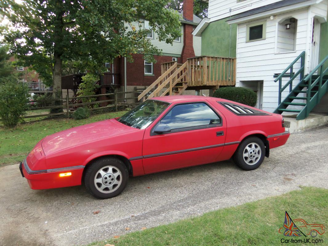 1988 Red Dodge Daytona 35k Original Miles 5 Speed