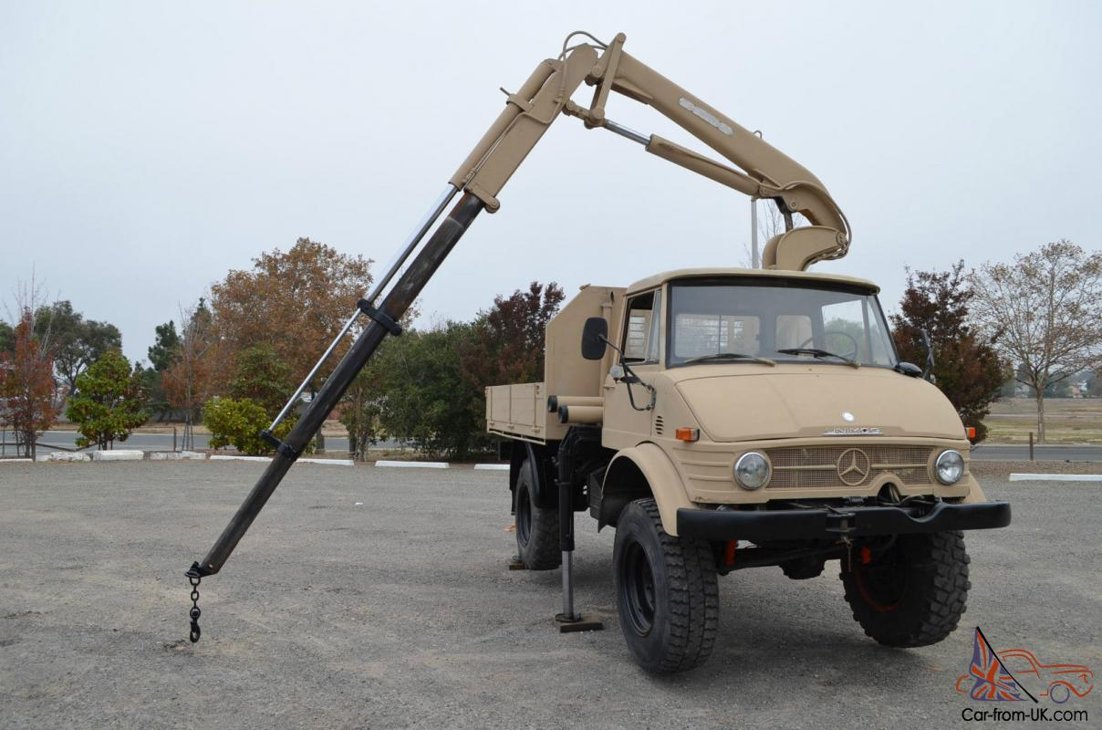 Crane Truck For Sale >> Mercedes Benz Unimog 416 Hiab Crane Truck