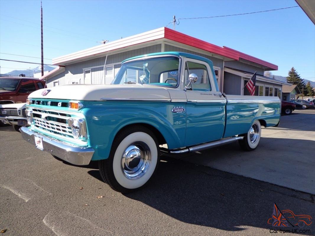1966 Ford Custom Cab 352v 8 Engine 500 Miles Since Total Restoration Beautiful