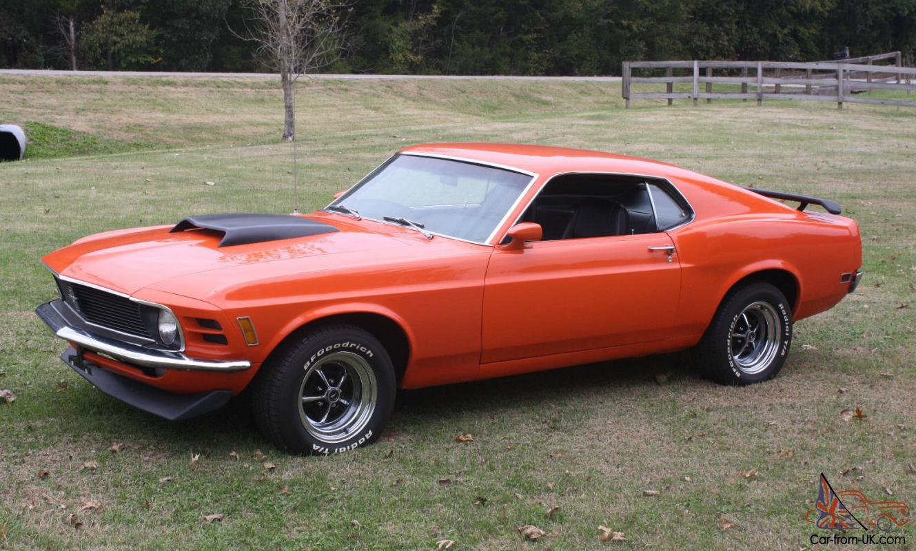 1970 Ford Mustang Fastback 351C 5 Speed - All original metal, no rust.