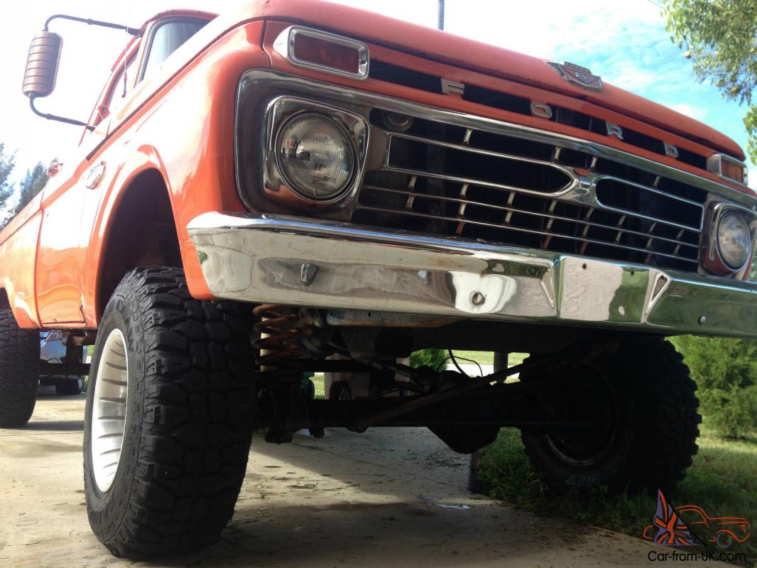 66 1966 Ford F100 4x4 4wd No Reserve Nr For Sale
