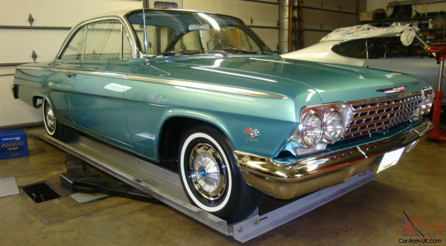 All Chevy 1962 chevy 409 for sale : Chevy Belair Bubbletop 409/409 4-Speed Turquoise/Turquoise