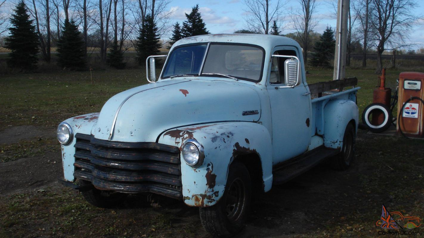 chevy pickup,1949,1950,1951,1953,1954, 3100,3600,3800,rat rod,gmc,