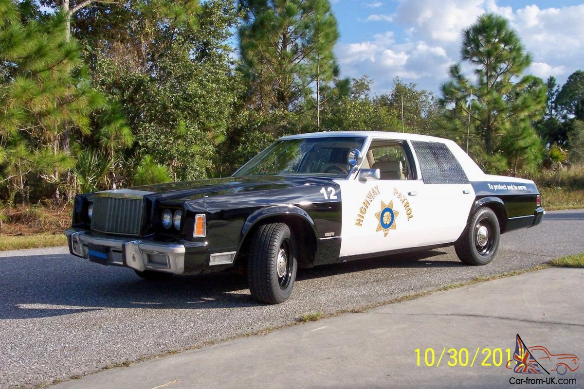 Cop Cars For Sale >> 1979 Chrysler Antique Police Mopar Cop Car