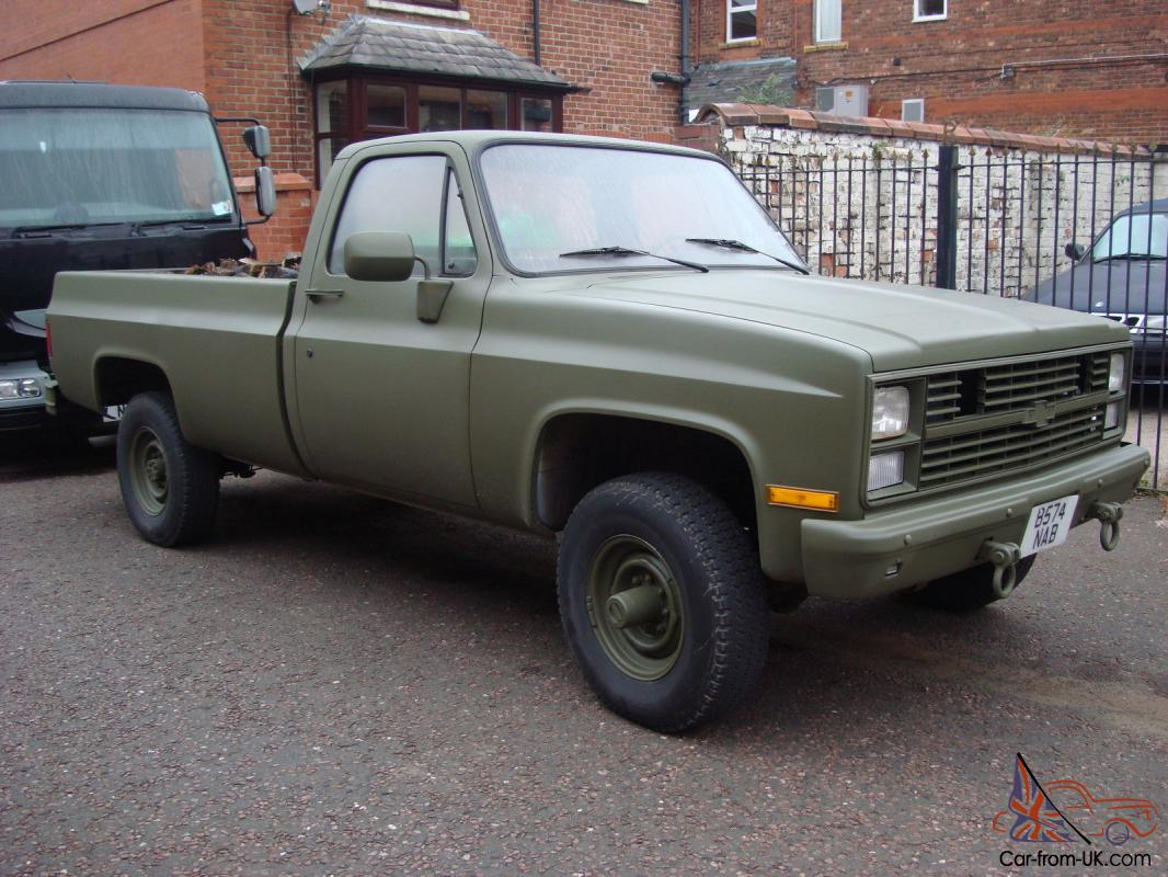 1985 CHEVROLET GMC GREEN 4x4 k20 pick up , 11121 only ex usaaf EX MOD
