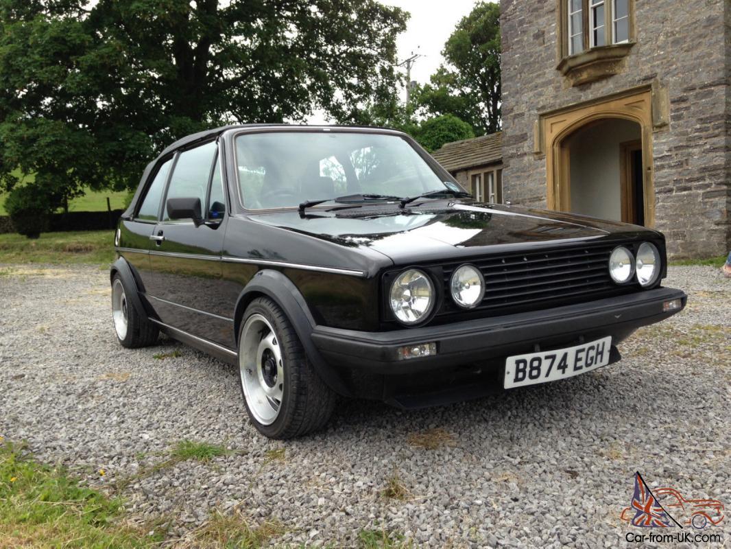 Volkswagen Golf Mk 1 Cabrio Gti Black 1985 1 8 Manual Price Reduction Mark 1