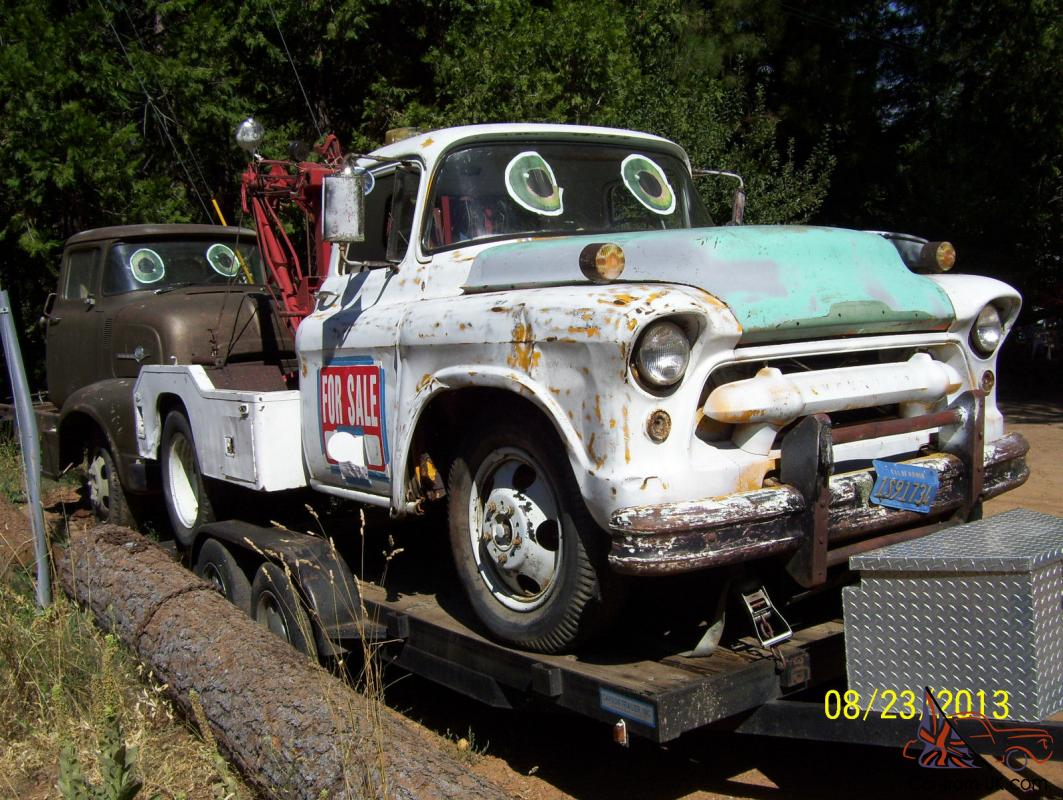 1955 Chevy Chevrolet N 4100 Series Tow Truck Tow Mater Wrecker Advertising