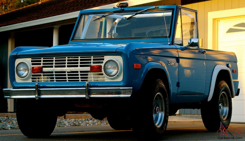 1970 Bronco 2 Door Hardtop Convertible, 13,987 original ...