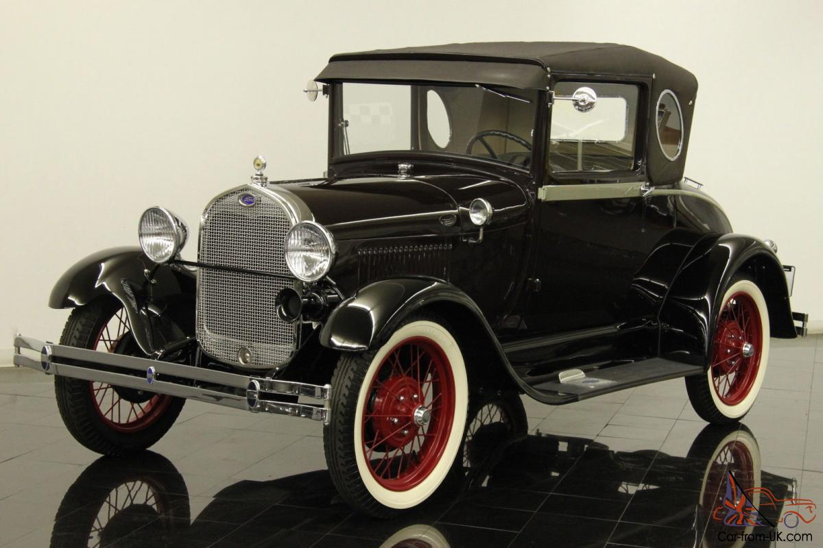 1929 Ford Model A Opera Window Rumble Seat Coupe Restored