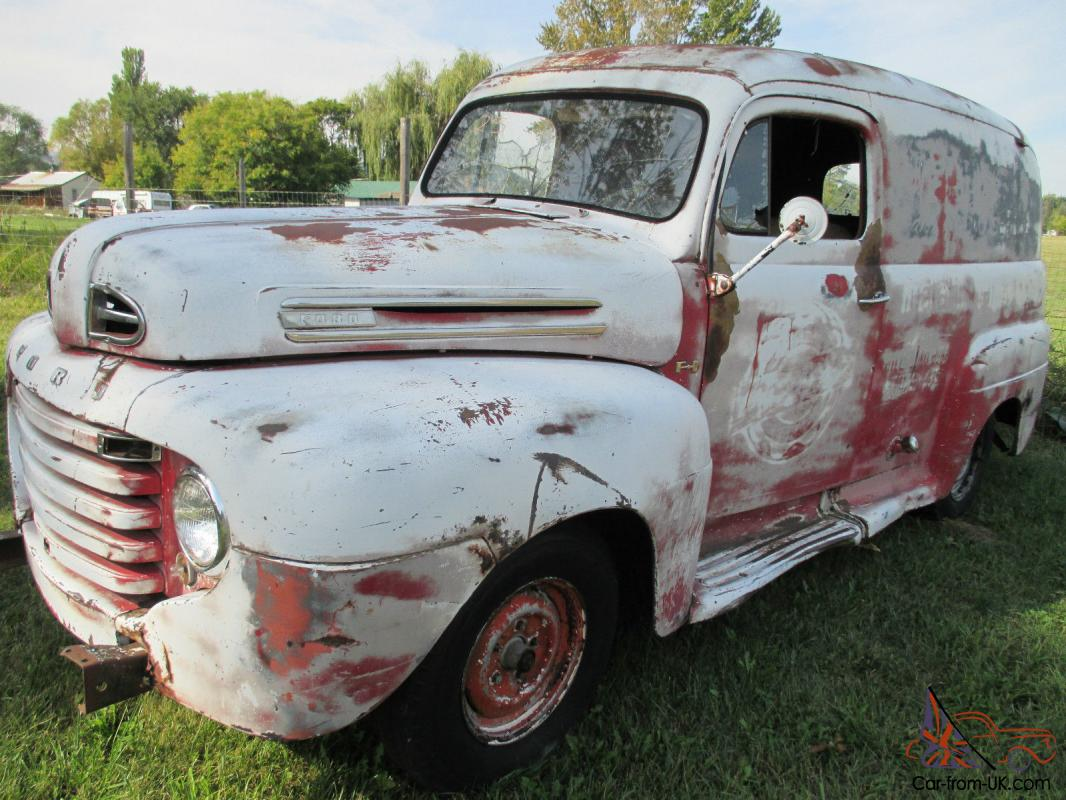 Truck 1949 chevy panel truck : FORD F-1 PANEL TRUCK RAT ROD HOT ROD CUSTOM DELIVERY TRUCK HOLY GRAIL