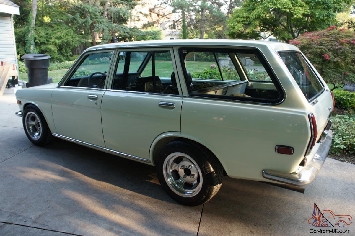 Datsun 510 wagon - clean original nissan bluebird white