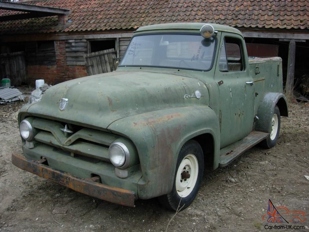 1955 Ford F100 Stepside Pickup Service Truck Project Runs