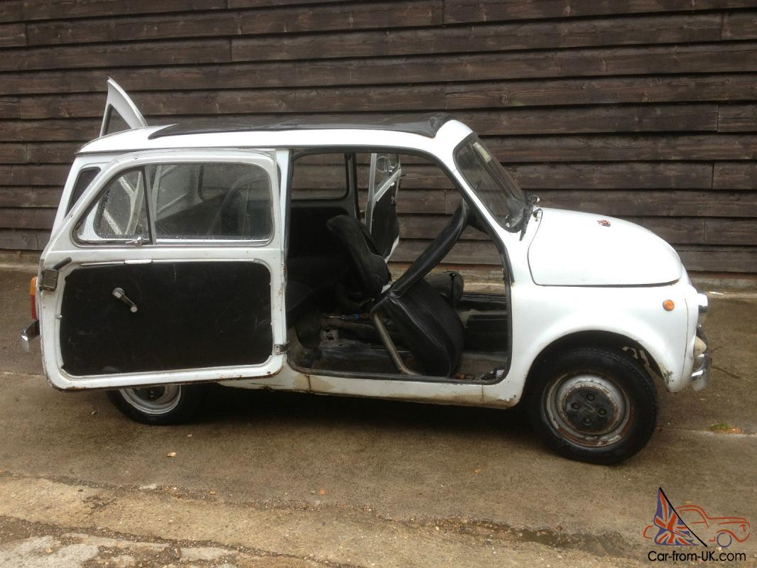 Rare 1972 Fiat 500 Giardiniera Estate With Suicide Doors