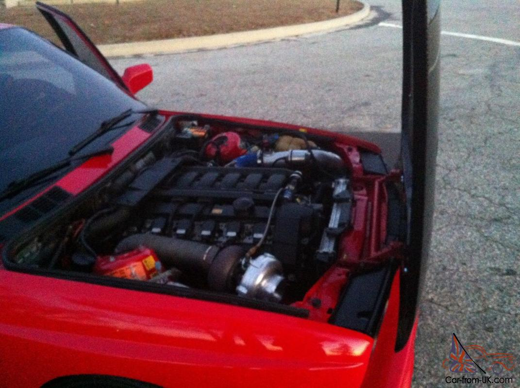 Rare Bmw E30 M3 Red Zinnoberrot 6l S52 Turbo With 500whp On Pump Gas