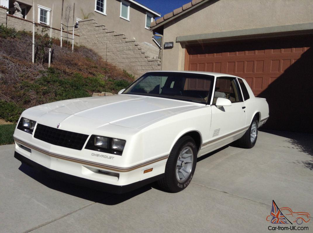 All Chevy 1988 chevrolet monte carlo ss for sale : Chevrolet Monte Carlo SS White/Tan Excellent Condition