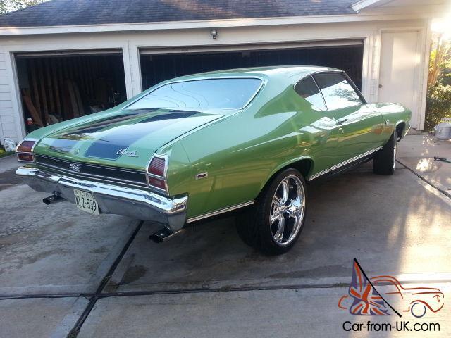 1969 Chevelle Malibu Retro Chevrolet V8 355 OEM Old School Hot Rod Muscle  Car