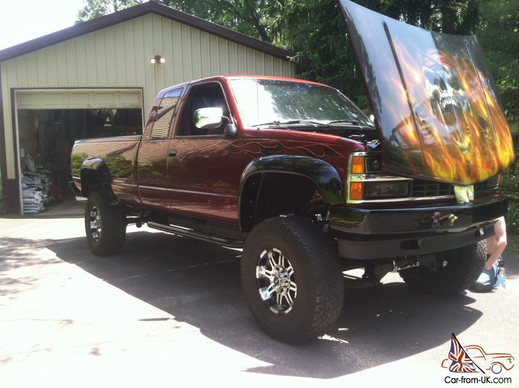 All Chevy 97 chevy 2500 : Chevy K2500 lifted show truck custom paint fresh 454 BBC