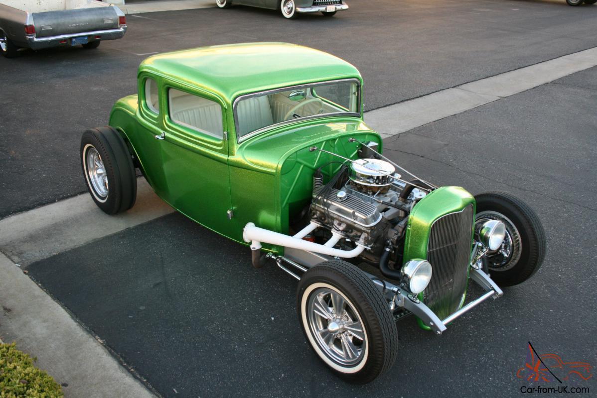 1932 Ford 5 Window Coupe Hot Rod Custom Rat Rod Gasser 28 29