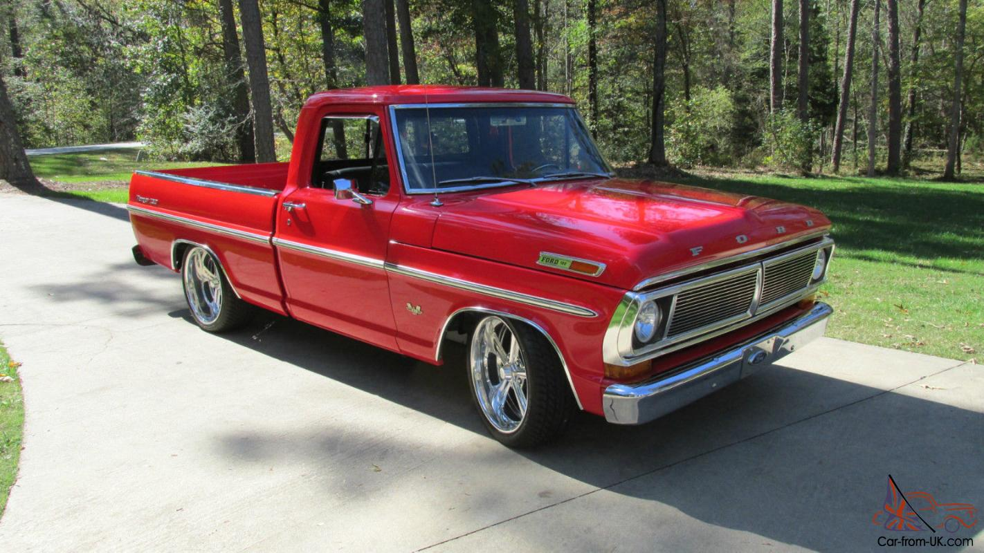 1970 Ford F100 Ranger XLT short bed pickup show truck ...