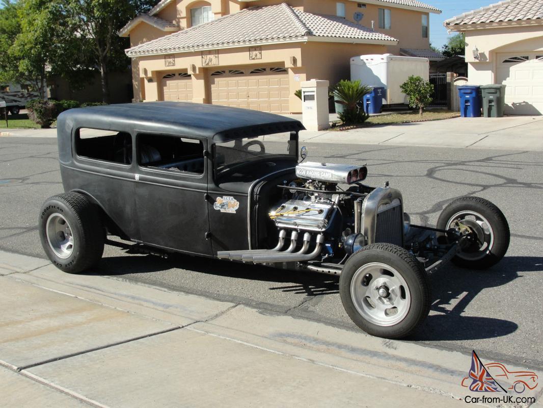 1930 Ford Model A Sedan Rat Rod Hot Rod Street Rod Ford Ratrod Model A
