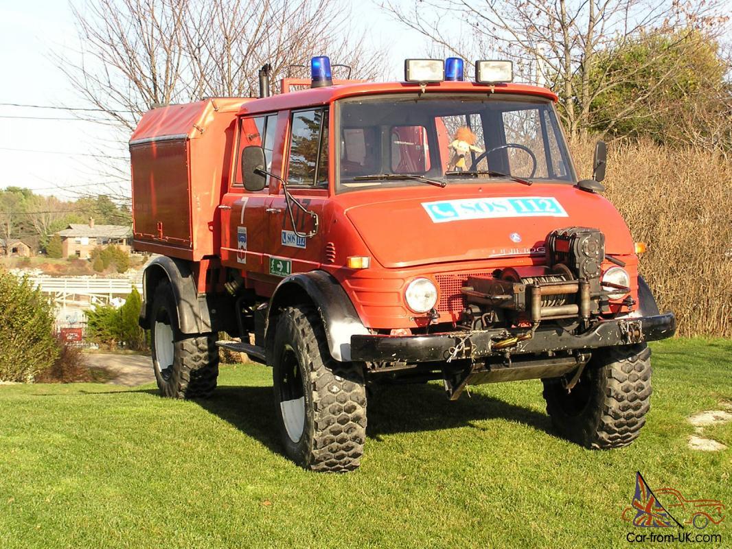 Mercedes Unimog 1981 Doka Cab Fire- Rescue Vehicle