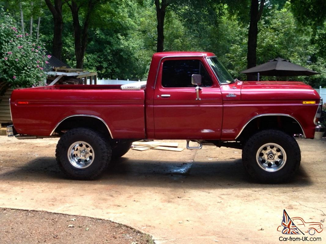 1978 Ford Truck >> 1978 Ford F 150 Fully Restored Red Truck 4x4 Short Wheel Base Reg Cab