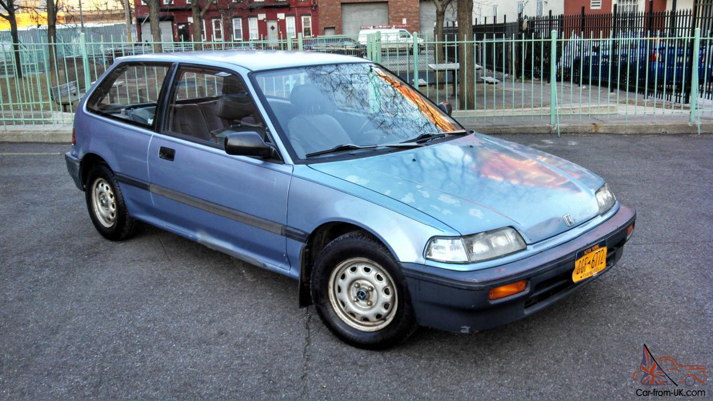 1988 Honda Civic Hatchback, Bone Stock with Every Single Service Record Ever!