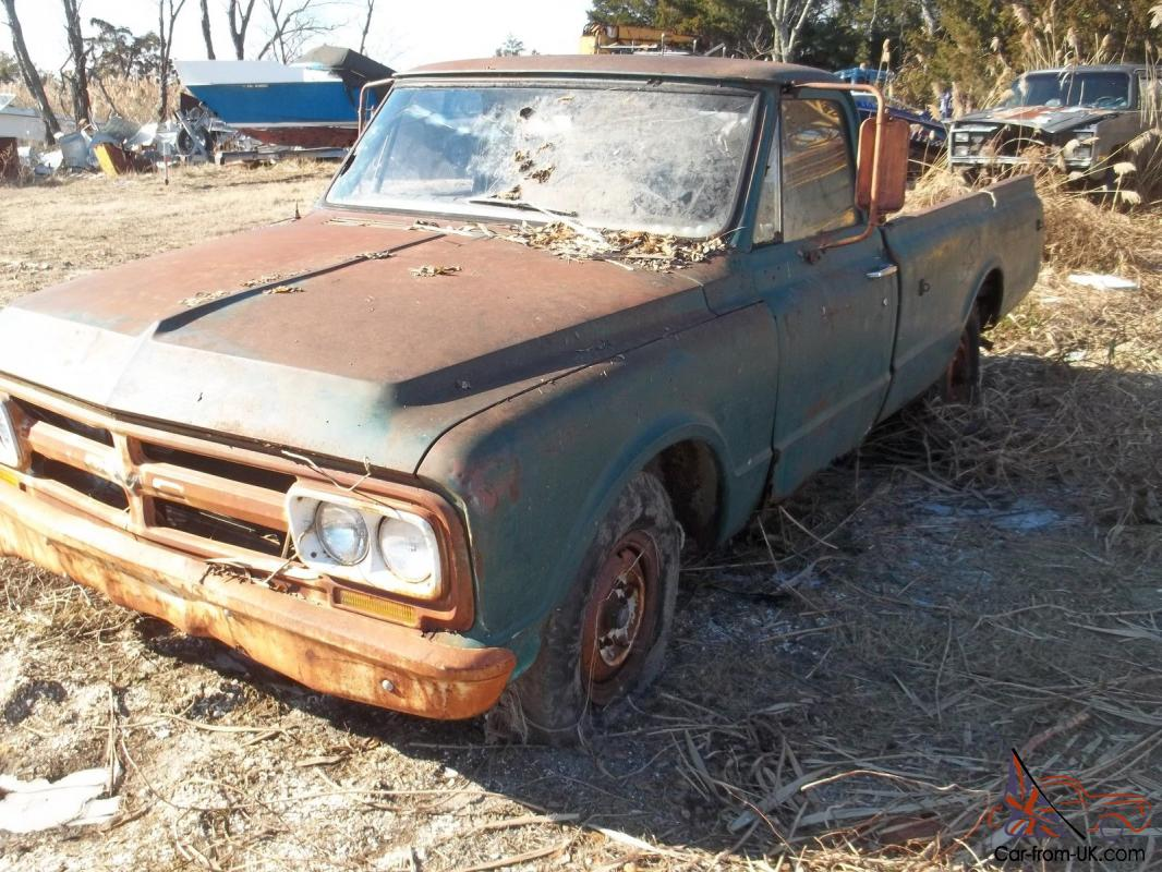 1967 GMC 3/4 ton long bed pick-up, never hit or bent