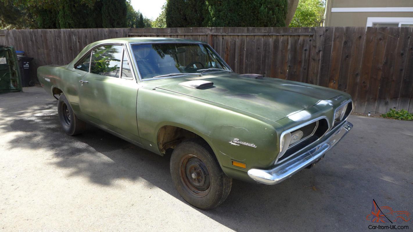 1969 Plymouth Barracuda M Code 440 Cuda Notchback 40k Mile Rust Free Ca Car
