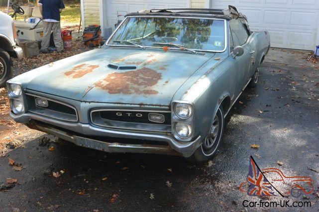 1966 pontiac gto engine wiring diagram 1966 pontiac gto 6 5 convertible big block 1 owner barn find 66  1966 pontiac gto 6 5 convertible big