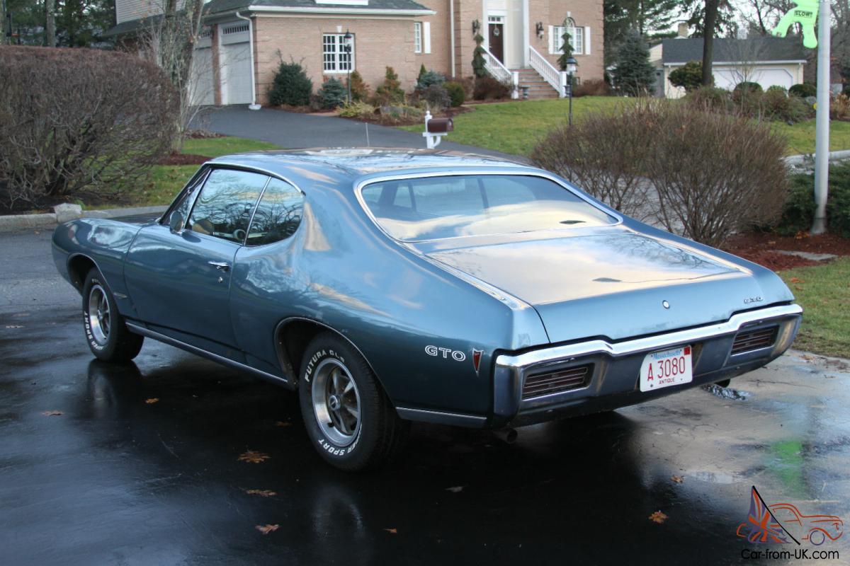 1968 PONTIAC GTO, FACTORY ALEUTIAN BLUE, MATCHING NUMBERS, TURBO  HYDRAMATIC, A/C