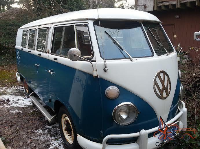 Volkswagen bus split window tin top walk thru with Westphalia kit 1966