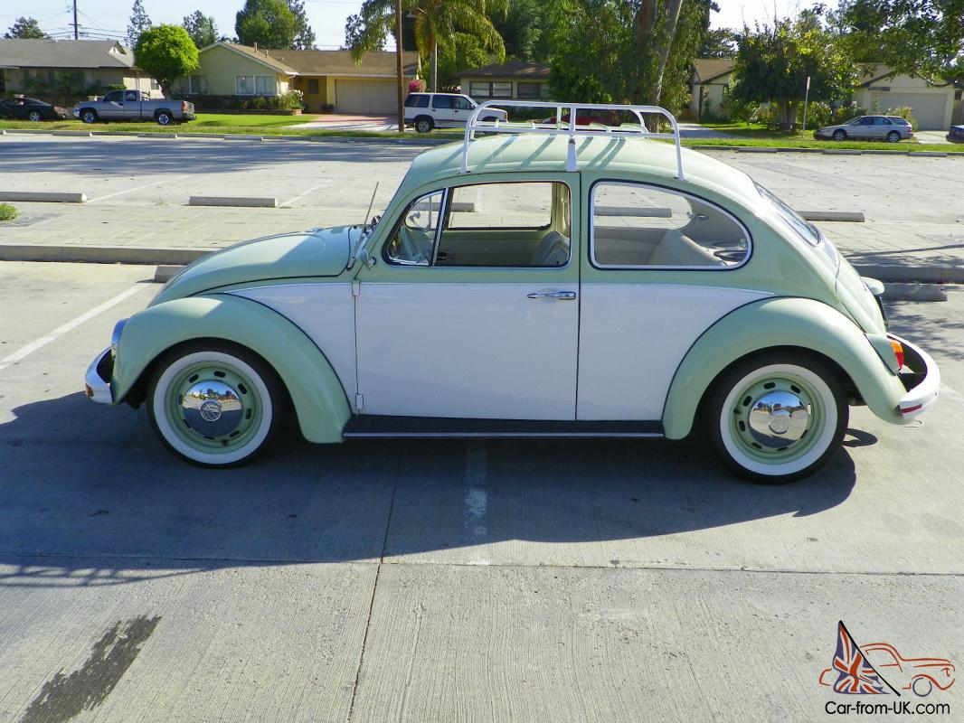 1968 Volkswagen Beetle Two Tone Dual Carb Roof Rack Black Plate No Reserve