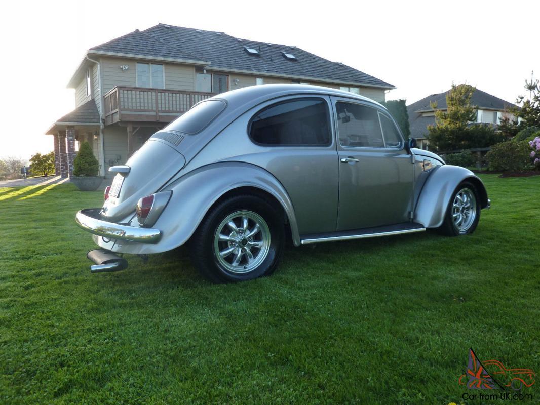 1968, Volkswagen Beetle, factory sunroof, super beetle, hot rod