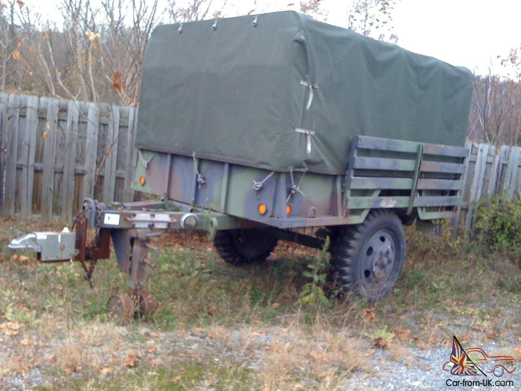 1985 Turtle Mountain M105a2 1 1 2 Ton Used Cargo Military Trailer