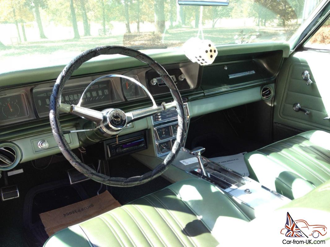 1966 Chevy Impala Ss Willow Green Air Conditioning