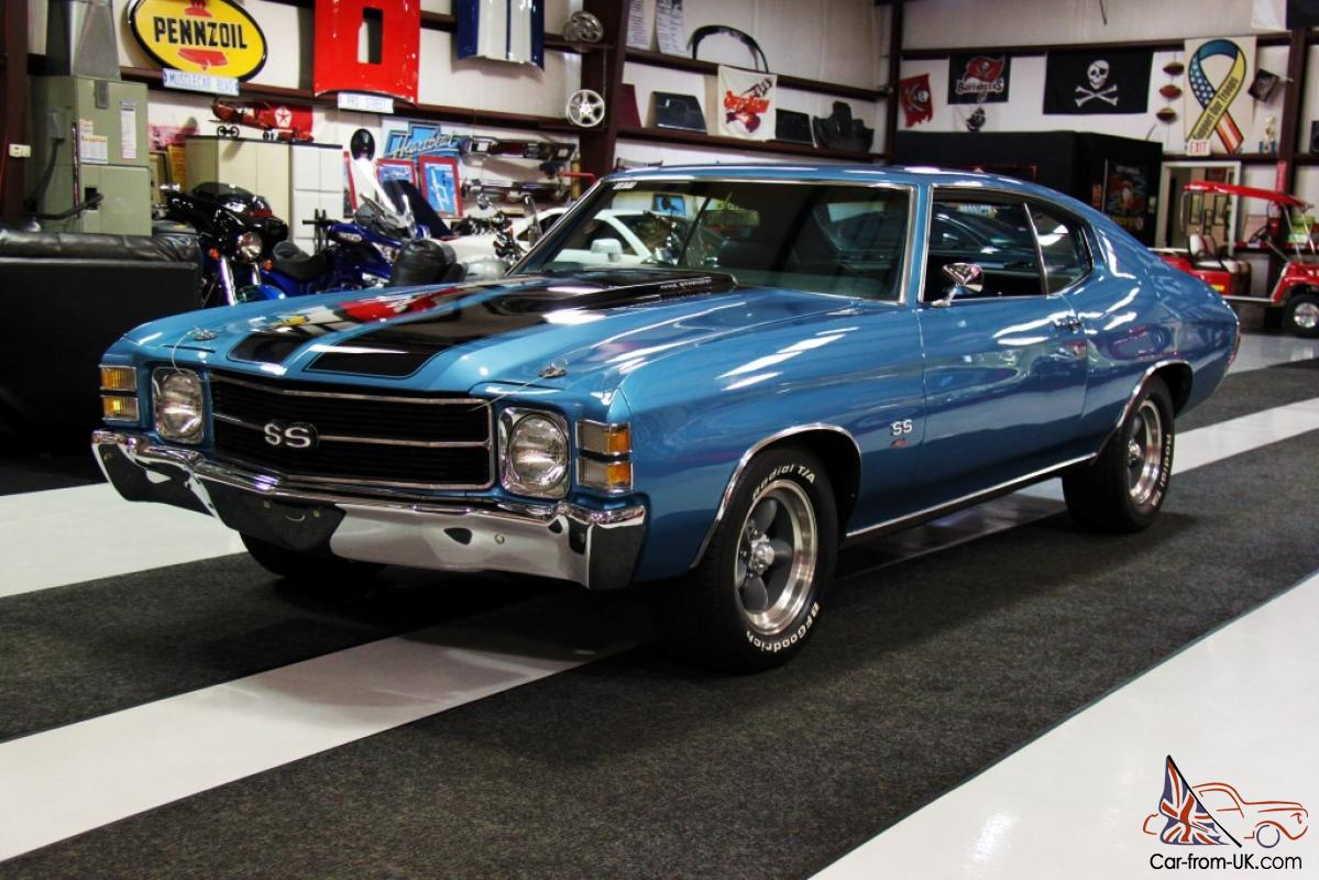 All Chevy 1971 chevrolet chevelle ss : Chevrolet Chevelle SS Clone 454 Very Clean Excellent Paint Automatic