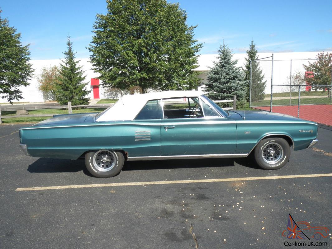 1966 Dodge Coronet 500 Convertible 383 Rare Medium Turquoise Color Only 1 Of 99