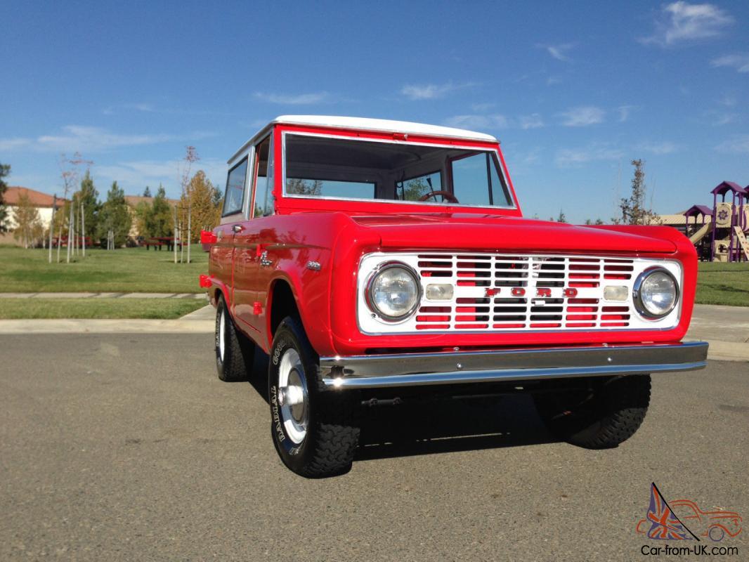 1968 69 70 ford bronco 289 v8 4x4 sport  original uncut
