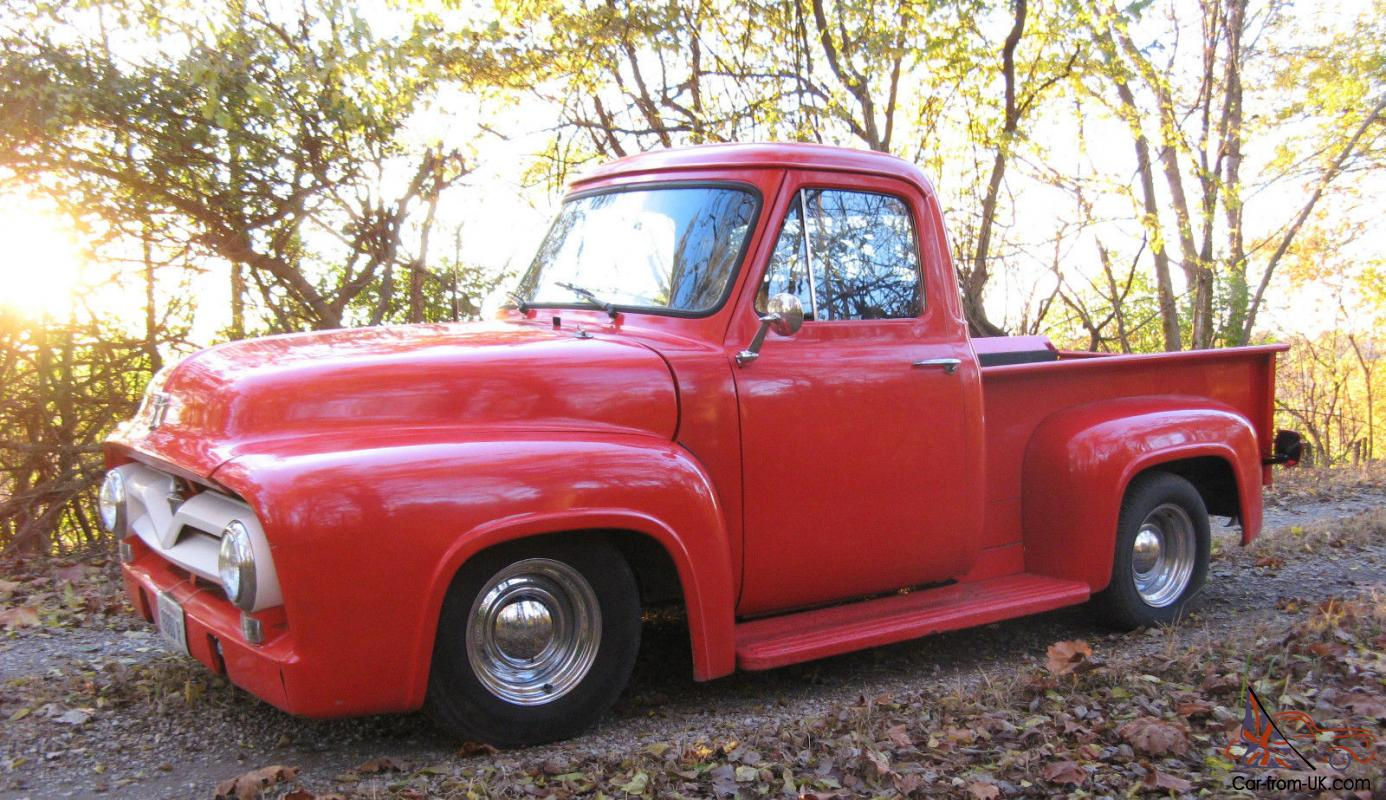 1955 Ford F 100 Hot Rod Custom Pick Up Truck Santa Claus Red Wiring Kits Photo