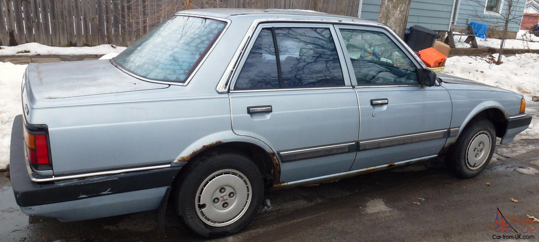 Honda Accord 1984 4 Door Light Blue Runs
