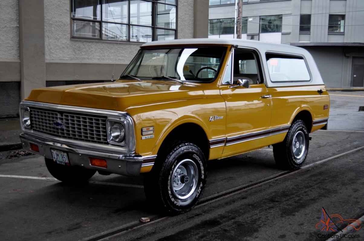 Blazer 1972 chevy k5 blazer : Chevrolet K5 Blazer CST (Custom) 4X4 Wheatland Yellow New Interor ...
