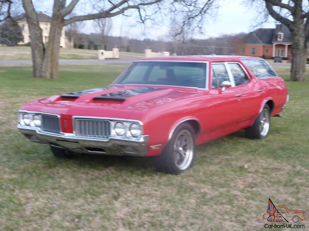 1970 Oldsmobile Cutlass Station Wagon Factory Code 75 RED 442 Upgrades