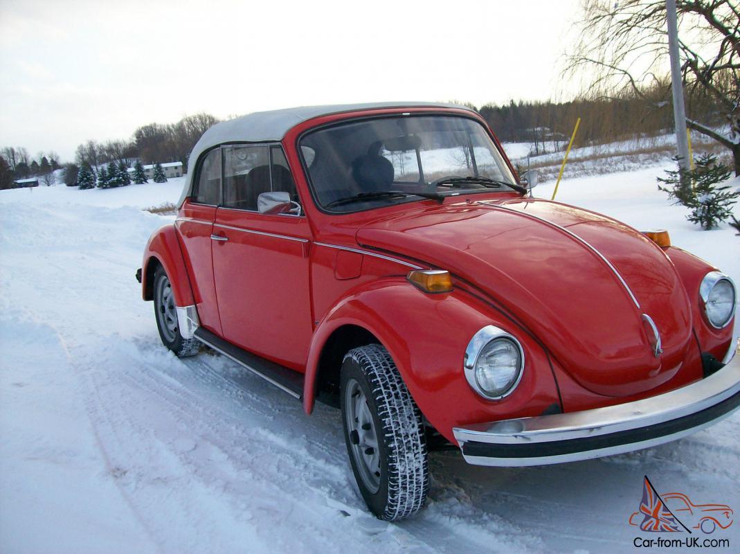 1979 Volkswagen Super Beetle Karmann Convertible Vw Bug